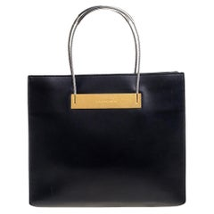 Balenciaga Black Leather Small Cable Shopper Tote