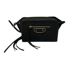 Balenciaga Black Leather Waist Bag