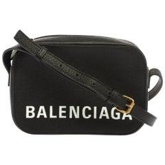 Balenciaga Black Leather XS Ville Camera Bag
