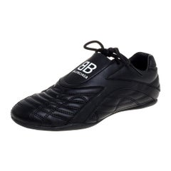 Balenciaga Black Leather Zen Sneakers Size 36