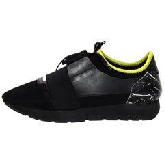 Balenciaga Black/Marble Race Runner Sneakers W/ Box Sz 42