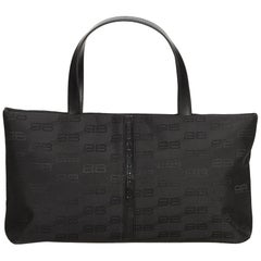 Balenciaga Black Nylon Tote Bag