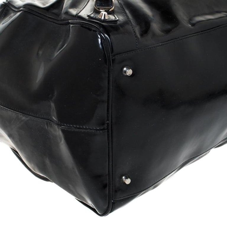 Balenciaga Black Patent Leather Bowling MM Bag For Sale 6