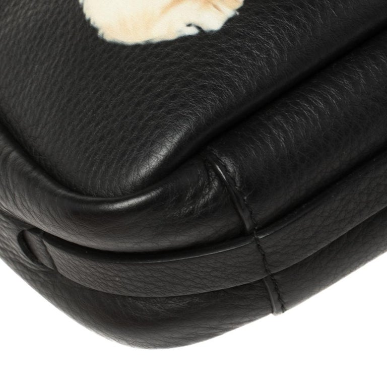 Balenciaga Black Puppy and Kitten Soft Leather Camera Crossbody Bag For Sale 6