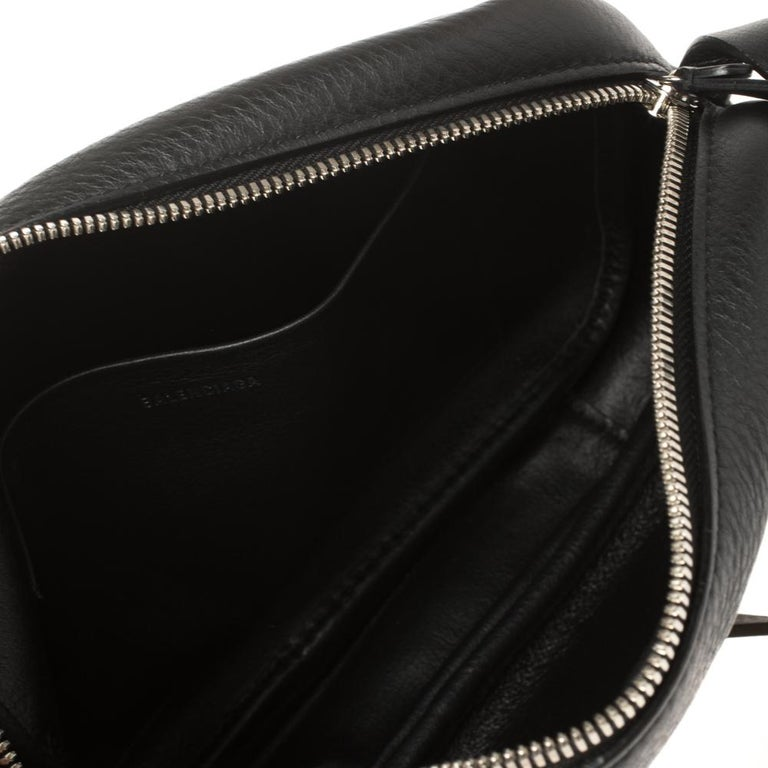 Balenciaga Black Puppy and Kitten Soft Leather Camera Crossbody Bag For Sale 2