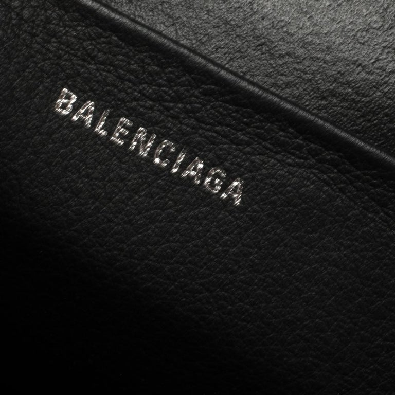 Balenciaga Black Puppy and Kitten Soft Leather Camera Crossbody Bag For Sale 3