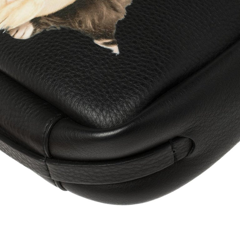Balenciaga Black Puppy and Kitten Soft Leather Camera Crossbody Bag For Sale 4