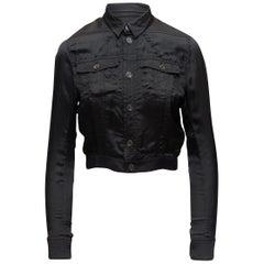 Balenciaga Black Satin Utility Jacket