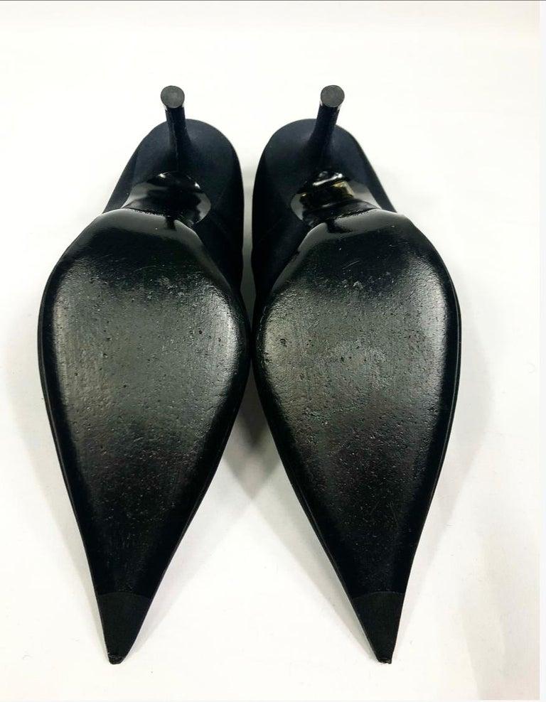 Women's BALENCIAGA Black Spandex Pointed Toe Pump Heels Size 37.5 For Sale