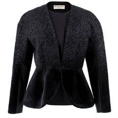 Balenciaga Black Tailored Textured Jacket US08