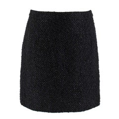 Balenciaga black tweed mini skirt 38 FR