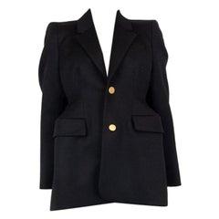 BALENCIAGA black wool HOURGLASS Blazer Jacket 38 S