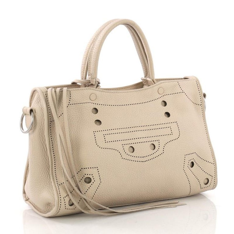 c57cdc606c4d Balenciaga Blackout City AJ Handbag Leather Small For Sale at 1stdibs
