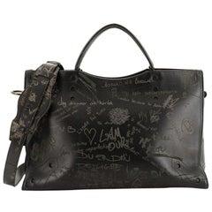 Balenciaga Blackout City Bag Printed Leather Medium