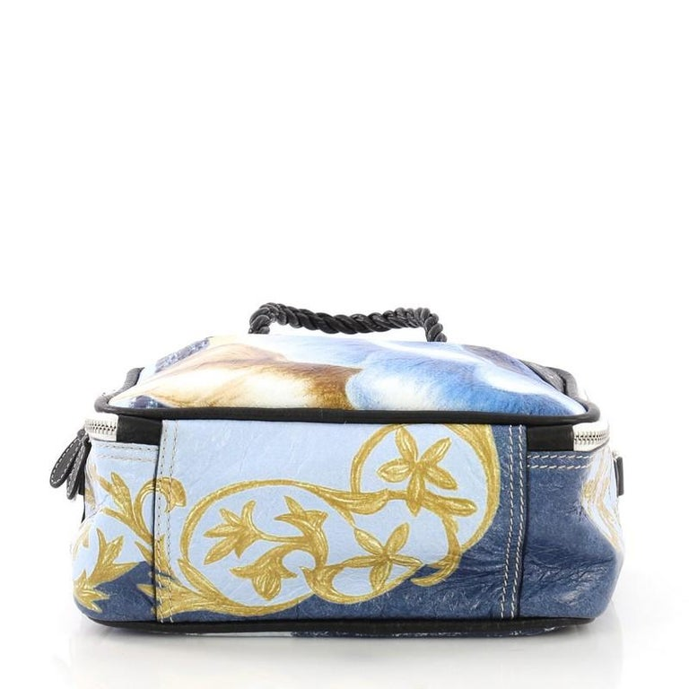 a9e32d5c30 Women's or Men's Balenciaga Blanket Square Bag Printed Leather Small For  Sale