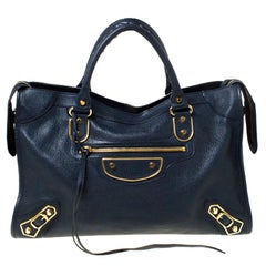 Balenciaga Bleu Obscur Leather Classic City GH Tote