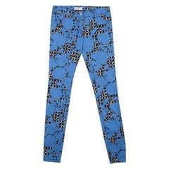 Balenciaga Blue and Black Printed Denim Skinny Jeans S