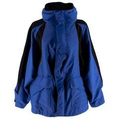 Balenciaga Blue & Black Runway Oversize Padded Jacket 34