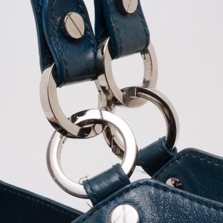 Balenciaga Blue Lambskin Sac Clous For Sale 2