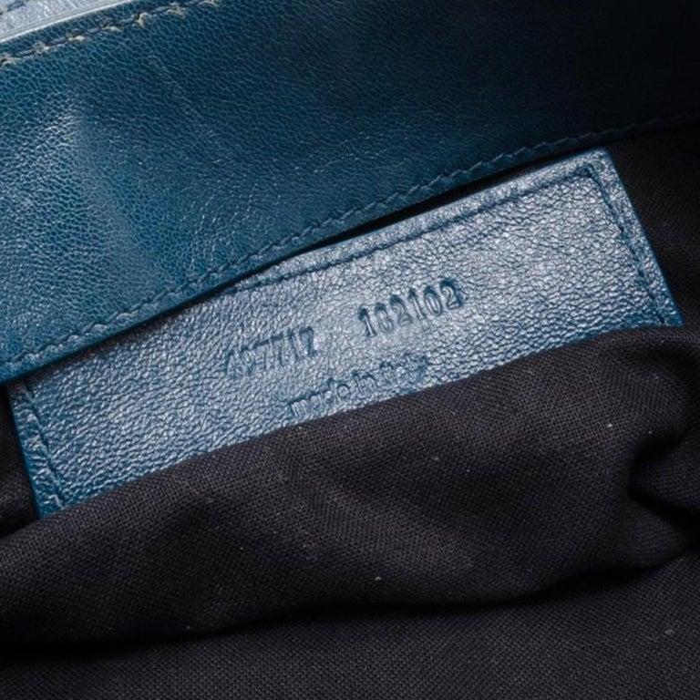 Balenciaga Blue Lambskin Sac Clous For Sale 4