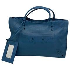 Balenciaga Blue Leather City Bag