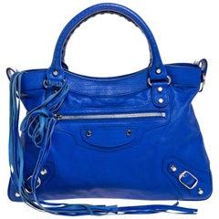 Balenciaga Blue Leather Town RH Tote