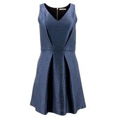 Balenciaga Blue Pleated Dress - Size US 4