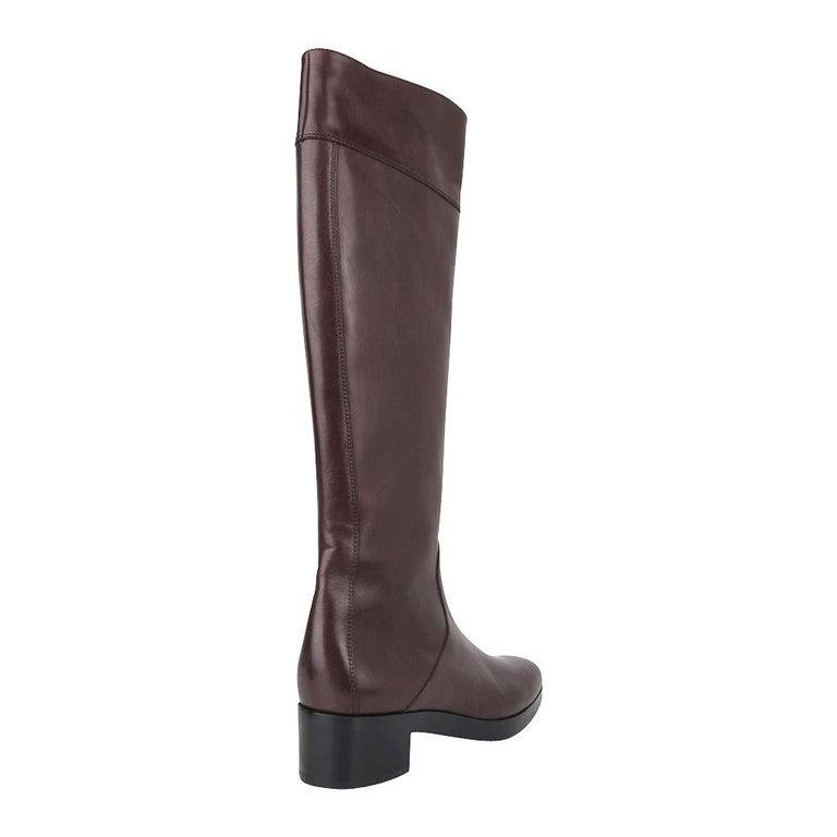 Balenciaga Boot Sleek Knee High Rich Cordovan 36.5 / 6.5 New For Sale 6