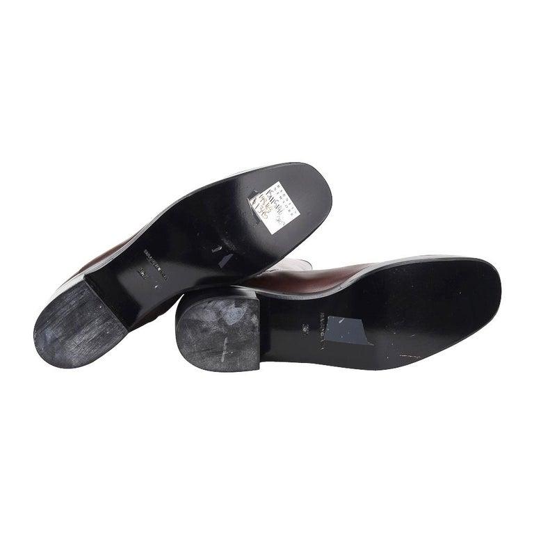 Balenciaga Boot Sleek Knee High Rich Cordovan 36.5 / 6.5 New For Sale 7
