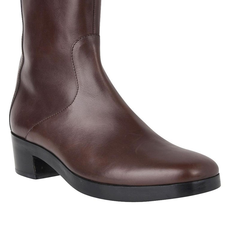 Women's Balenciaga Boot Sleek Knee High Rich Cordovan 36.5 / 6.5 New For Sale