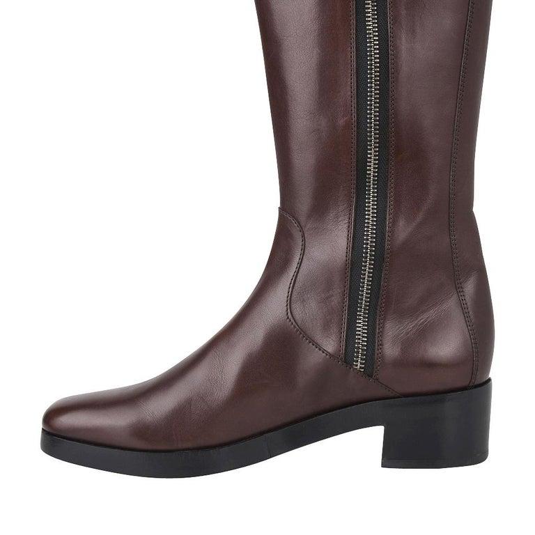 Balenciaga Boot Sleek Knee High Rich Cordovan 36.5 / 6.5 New For Sale 1