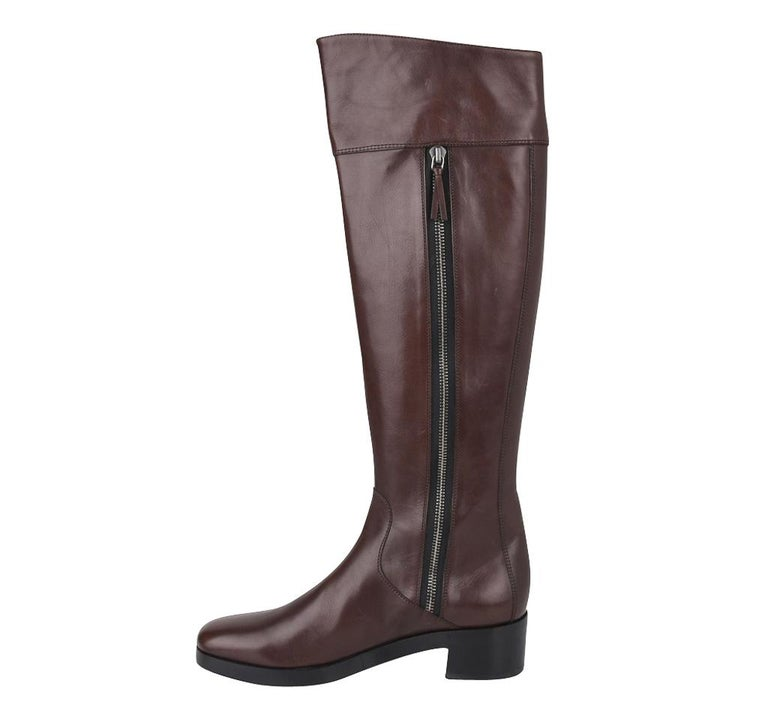 Balenciaga Boot Sleek Knee High Rich Cordovan 36.5 / 6.5 New For Sale 2