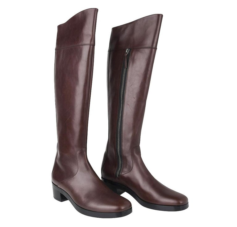 Balenciaga Boot Sleek Knee High Rich Cordovan 36.5 / 6.5 New For Sale 3