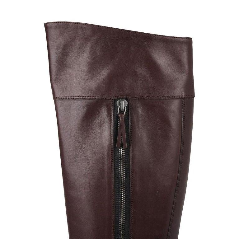 Balenciaga Boot Sleek Knee High Rich Cordovan 36.5 / 6.5 New For Sale 4