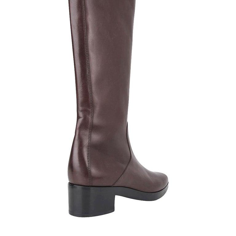 Balenciaga Boot Sleek Knee High Rich Cordovan 36.5 / 6.5 New For Sale 5