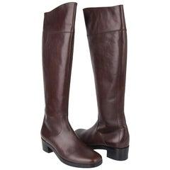 Balenciaga Boot Sleek Knee High Rich Cordovan 36.5 / 6.5 New