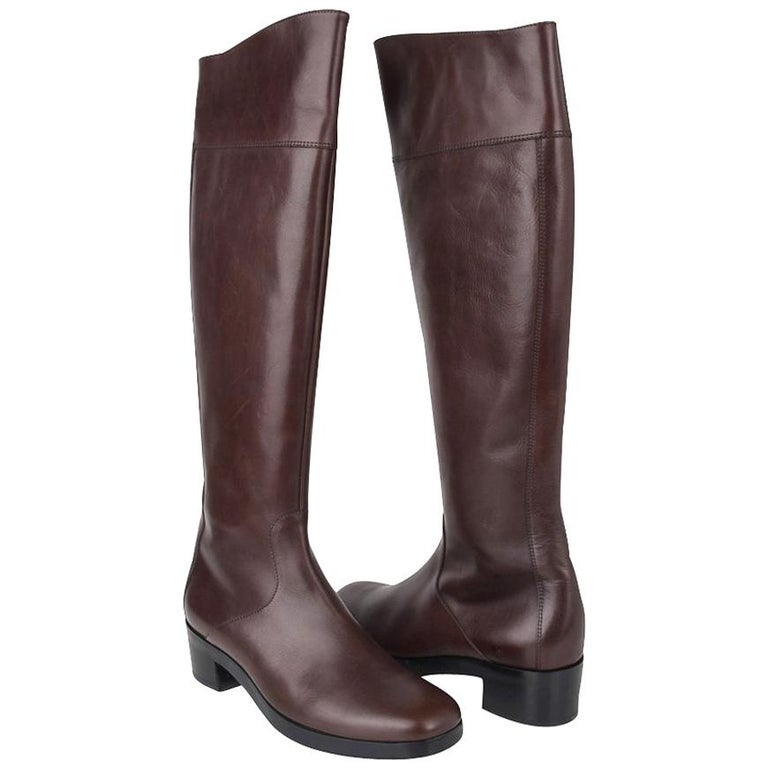 Balenciaga Boot Sleek Knee High Rich Cordovan 36.5 / 6.5 New For Sale