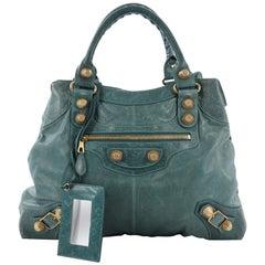 Balenciaga Brief Giant Studs Bag Leather