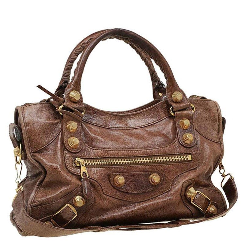 Balenciaga Brown Leather GH City Bag For Sale at 1stdibs 515333c64b3a4