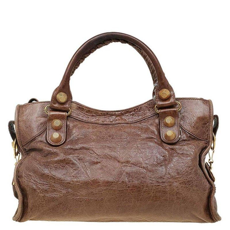 77e3a45734 Balenciaga Brown Leather GH City Bag For Sale at 1stdibs