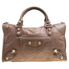 Balenciaga Brown Leather GH Work Tote
