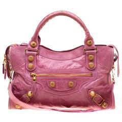 Balenciaga Bubble Gum Leather GGH City Bag