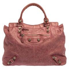 Balenciaga Bubble Gum Pink Leather SGH Brief Tote