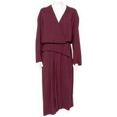 Balenciaga Burgundy Evening Crepe Gown M