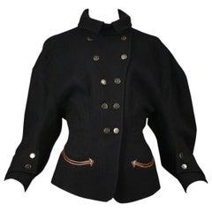 Balenciaga by Nicolas Ghesquiere Black Western Inspired Jacket 2003