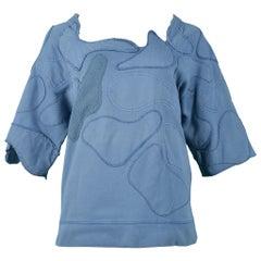 Balenciaga By  Nicolas Ghesquiere Blue Patchwork Sweatshirt 2002