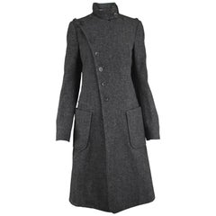 Balenciaga Nicolas Ghesquiere Gray Wool and Cashmere Military Style Coat, 2005
