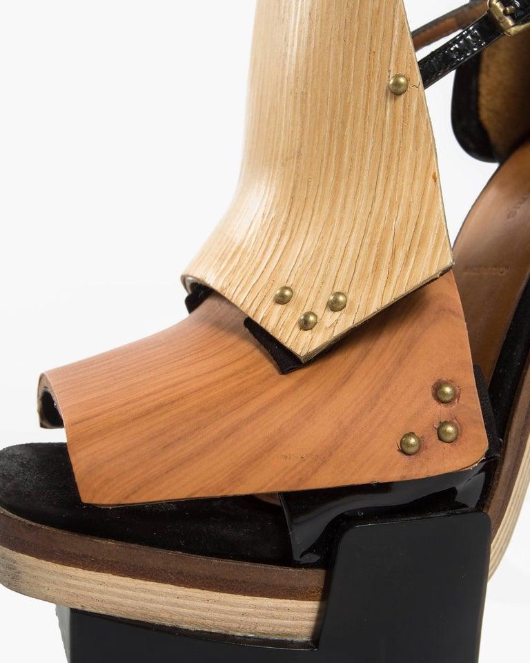5b436656b90 Women s or Men s Balenciaga by Nicolas Ghesquière mixed media wooden block  heels