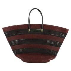 Balenciaga Cable Basket Bag Raffia Maxi