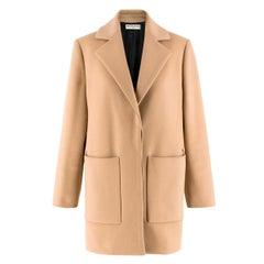 Balenciaga Camel-Brown Wool-Blend Coat FR 34